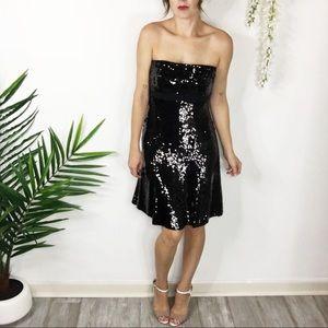 BADGLEY MISCHKA 100% silk dress sequins